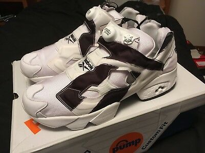 a9ca7fe3092 Mens Size 11.5 Reebok Instapump Fury OB Over Branded White Black DS AR1413  NEW