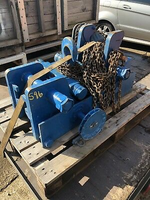 Manual Chain Hoist 4000kg , 3m Hol Ultra Low Head Room Block And Tackle Side