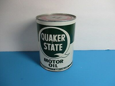 vintage Quaker State HD SAE 30 motor oil can