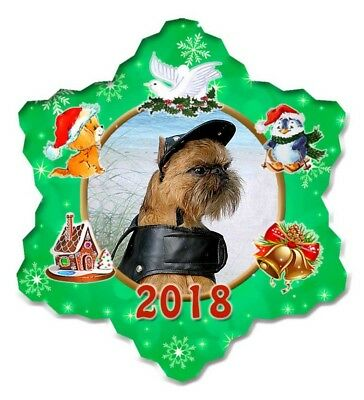 Brussels Griffon Porcelain Christmas Holiday Ornament - 2018