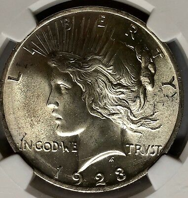 1923 NGC MS 66 Peace Silver Dollar Toned Make Us An Offer 86191317a