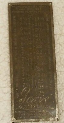 Vintage 1920s Garve DeLuxe Hat Mold Stretcher Millinery Metal Sizing Plate
