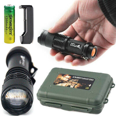 50000Lumens T6 Zoomable Tactical 18650 Flashlights  Zoom Torch Lamp