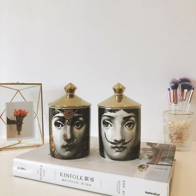 Vintage Fornasetti Candle Holders Storage Home Designer Decorative Art Milan