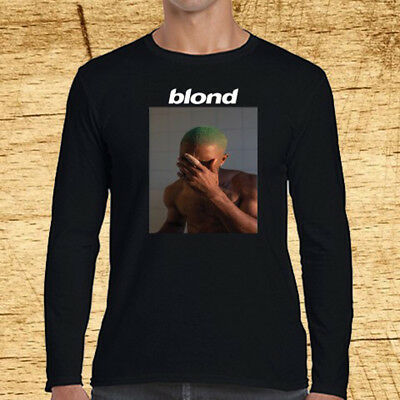 Frank Ocean Blond Blonde Album Cover Long Sleeve Black T-Shirt Size S to 3XL