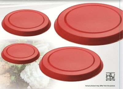Set Of 4 Red Stainless Steel Metal Electric Cooker Hob Ring Cover Covers Lid