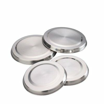 Set Of 4 Stainless Steel Metal Electric Cooker Hob Ring Cover Covers Lid
