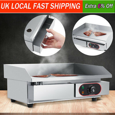 3000W Electric Griddle Hamburgers BBQ Grill Stainless Steel Countertop Hot Plate