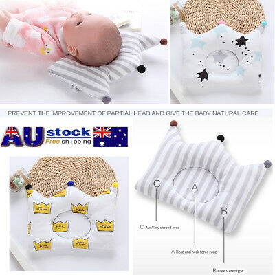 Baby Infant Newborn Memory Foam Pillow Prevent Flat Head Anti Roll Support AU !!