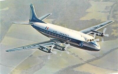 Cp Air France Vickers Viscount Appareil A Moyen Rayon D'action