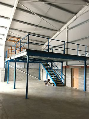 BRAND NEW MEZZANINE FLOOR 9m x 4.5m, 2.7m High**MEZZ FLOOR**STORAGE**CE MARKED**