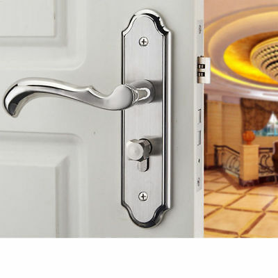 Privacy Door Security Entry Lever Stainless Steel Mortise Handle Locks Full kit