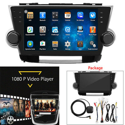 Fit for Toyota Highlander HD Android Car Radio Player Kit GPS Navigation System