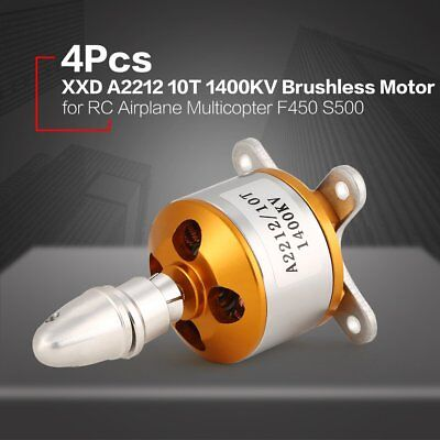4Pcs XXD 2212 10T 1400KV Brushless Motor for RC Airplane Multicopter F450 S5YO