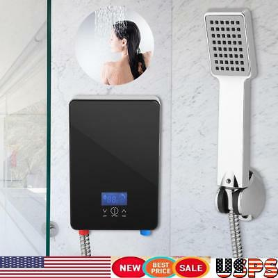 220V 6500W Electric Tankless Water Heater for Home Bathroom Shower Free shipping