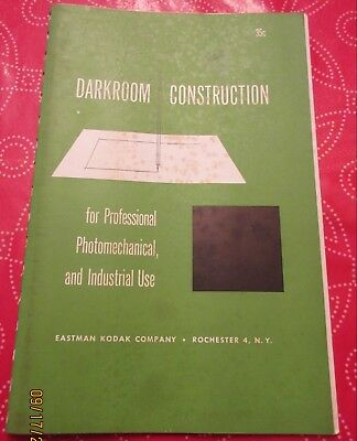 1952 Eastman Kodak Darkroom construction for professional & industrial ++
