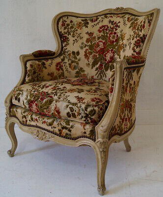 Vintage French Louis XV Wingback Armchairs inc. Reupholstery (exc. fabric)