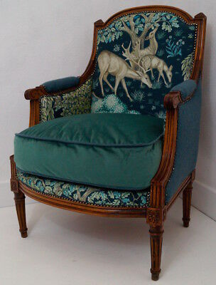 Antique French Louis XVI Bergere Armchair inc. Reupholstery (exc. fabric)