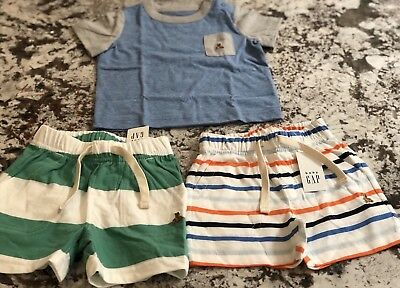 Nwt 3 Piece Baby Boy Baby Gap Clothing Lot Size 3-6 Months