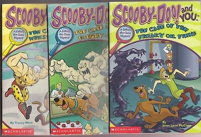 SCOOBY-DOO Scholastic Book Lot—Wrestler's Ghost—Doughy Creature—Freaky Oil Fiend