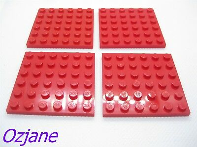 part no 3958 Plate 6 x 6 in Red Lego