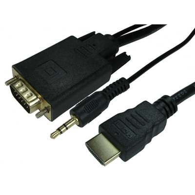HDMI to VGA Converter Cable With 3.5mm Audio for Xbox One, S, Playstation 3, PS4