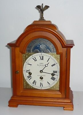 Sewills Liverpool Bracket Clock With Chimes And Moon Phase