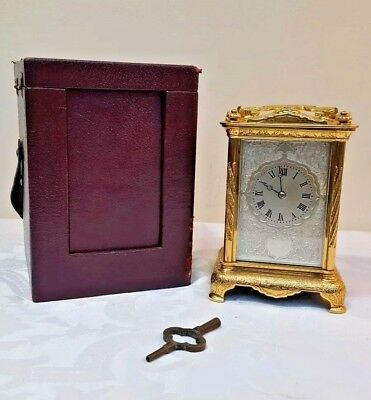 Rare French Fully Engraved Striking Carriage Clock