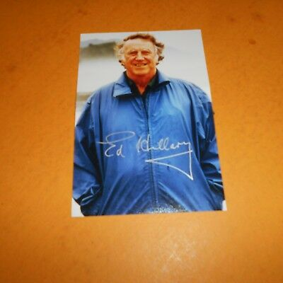 Sir Edmund Hillary was a New Zealand mountaineer, explorer Hand Signed Photo