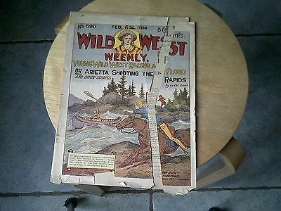 Wild West Weekly Feb.6th 1914 Young Wild west Racing A flood Damage