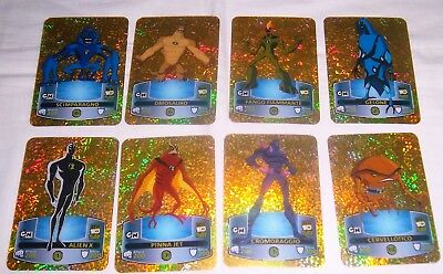 Cn Ben Alien Force Lamicards Oro Edibas- Lotto Di 8 Cards Oro - Rarita'