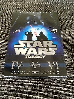 NEW Star Wars Trilogy 6 Disc Widescreen Original Theatrical Edition BLUE BOX SET