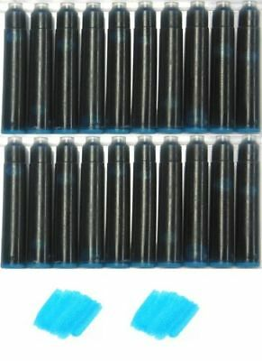 20 - Fountain Pen Refill Ink Cartridges for Montblanc, Cartier, Sea Glass Green