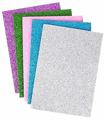 10pcs GLITTER FOAM SHEETS A5 Blue Green Pink Purple Silver Art Craft Hobby Cards