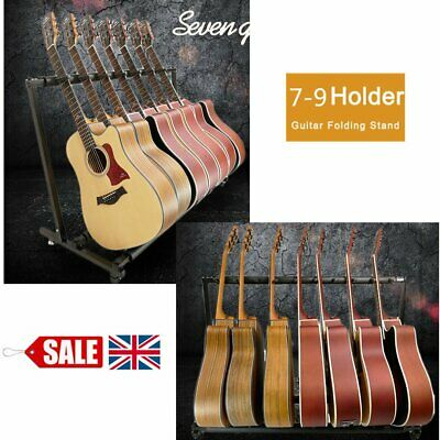 New Chord 7/9-Way Multi Guitar Stand Foldable Acoustic Electric Bass Guitar Rack