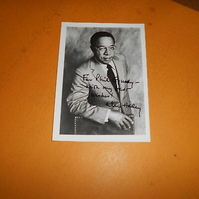 Alex Haley was an American writer Hand Signed Photo author the 1976 book Roots