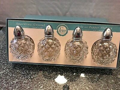 Vintage Irice Set Of 4 Salt & Pepper Shakers New In Box Made In Japan
