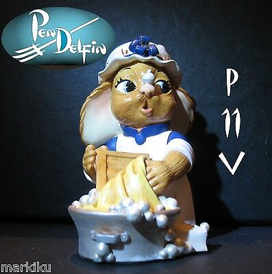 NEW Pendelfin Persilla washer figurine rabbit Bunny w/ Box