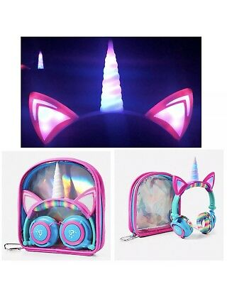 Justice Unicorn Light Up Headphones BRAND NEW Sold Out Online !