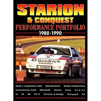 Starion and Conquest Performance Portfolio 1982-1990 - Paperback NEW Clarke, R.M