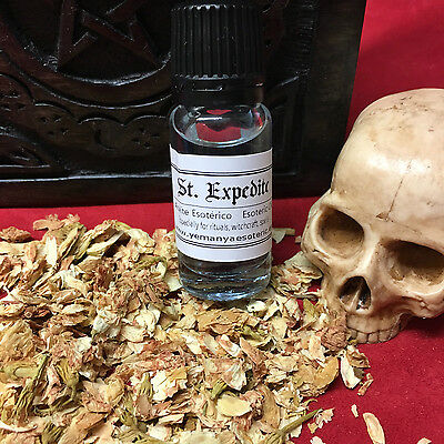 St. Expedite Oil Esoteric Aceite Esoterico Ritual Spell Magic Witchcraft 10ml