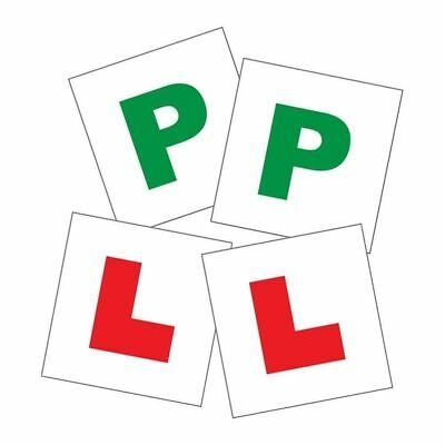 New 2 x L & 2 x P Plates Magnetic Car New Learner & Pass Signs 2 in 1