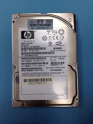 Lot of 4     HP 431954-003 / Seagate ST9146802SS 146GB 10K 2.5IN SAS  Hard Drive