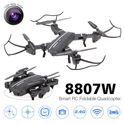 RC Quadcopter 8807W 720P Wide Angle Camera Wifi Drone w 2 Extra Batteries L2S7