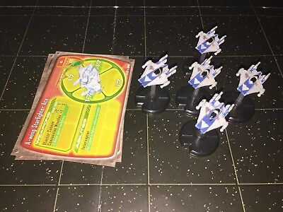 Star Wars Micro Starship Battles Lot X5 A-Wing Ace Starfighter 15/60 Machines