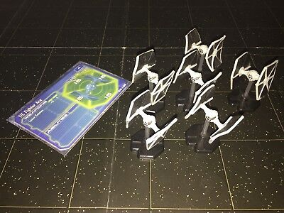 Star Wars Micro Starship Battles Lot X5 TIE Fighter Ace 55/60 & 56/60 Machines