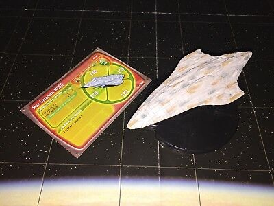 Star Wars Starship Battles Lot Mon Calamari Cruiser MC80 Space Ship 3/60 & Card