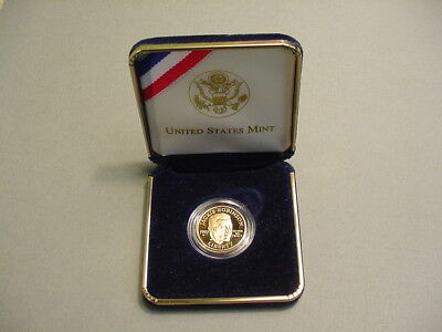 1997-W US Jackie Robinson Five Dollar Commemorative Proof Gold Coin $5 Box