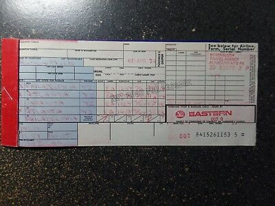 Eastern Airlines paper ticket  Rare 1974   ARC Ticket stock FREE Shipping to USA