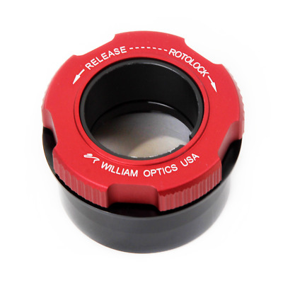 """William Optics 2"""" to 1.25"""" RotoLock Eyepiece Adapter - Red # F-ROTO-A2-125RD"""